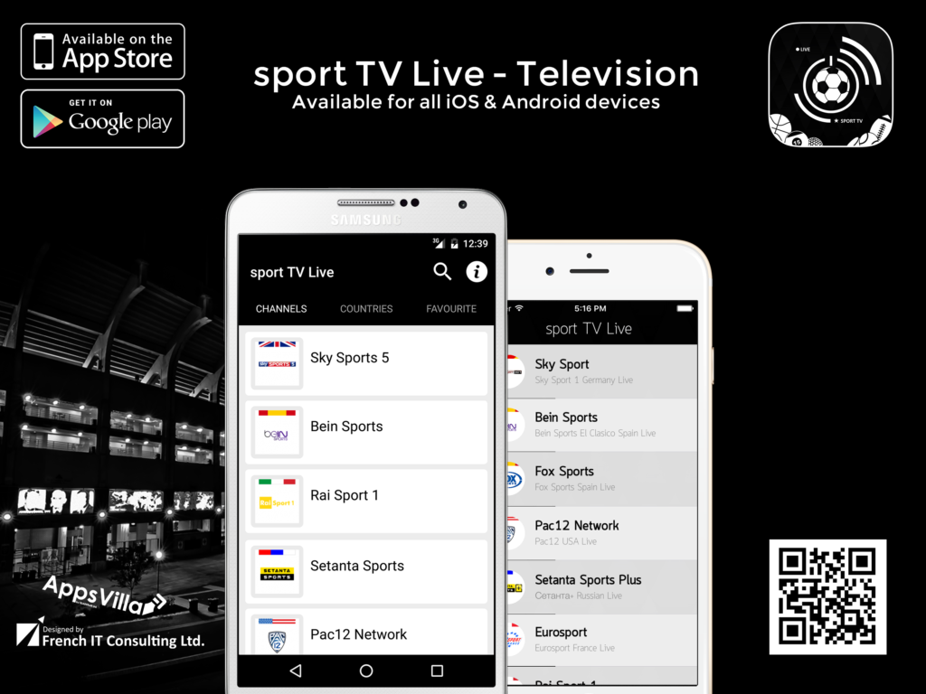 Sport Live TV iOS/Android App