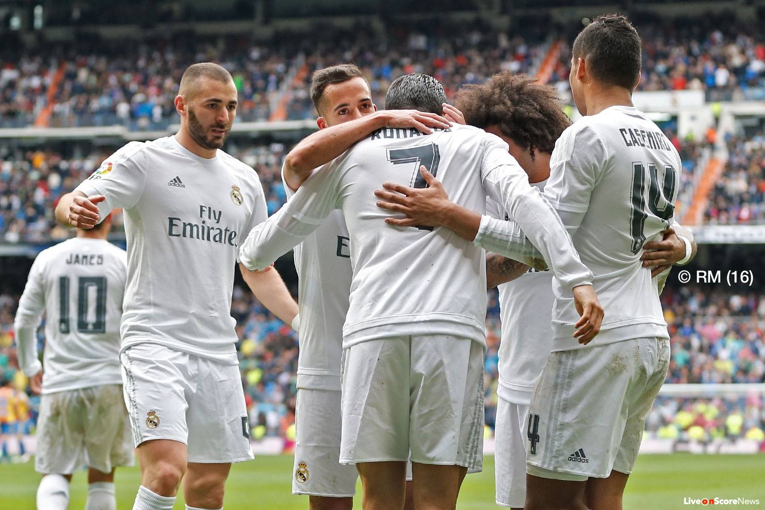 Real Madrid move into second with entertaining victory