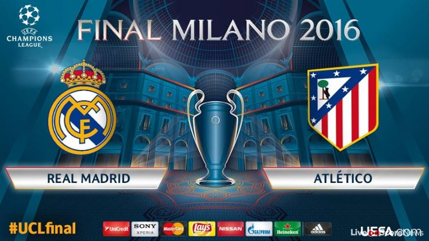 Real Madrid C.F. vs Atlético de Madrid in UCL Final in Milan on Saturday 28 May