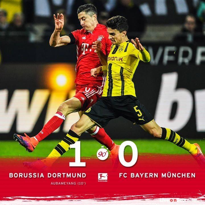 Боруссия дортмунд бавария 1 0