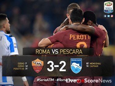 Roma 3 – 2 Pescara Highlight video