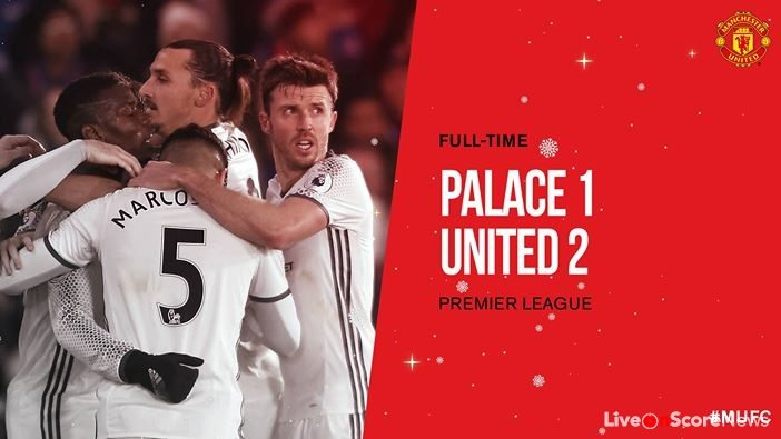 Crystal Palace 1 – 2 Manchester United Highlight Video