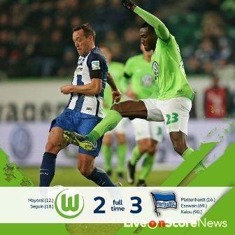 Wolfsburg 2 – 3 Hertha Berlin Highlight Video