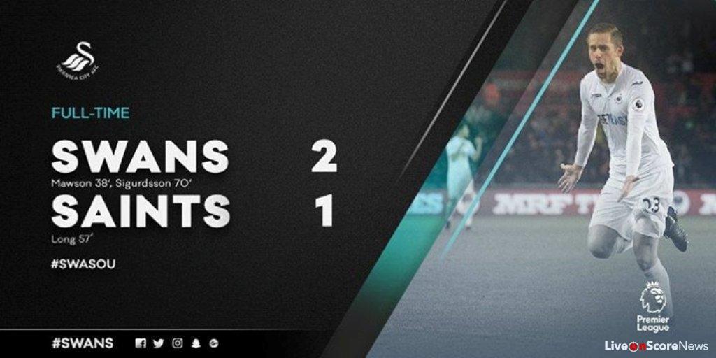 Swansea City 2 – 1 Southampton Highlight Video