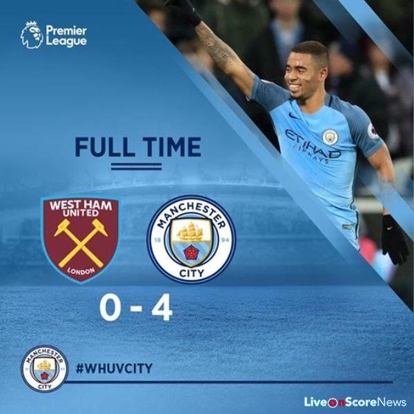 West Ham United 0 – 4 Manchester City Highlight Video