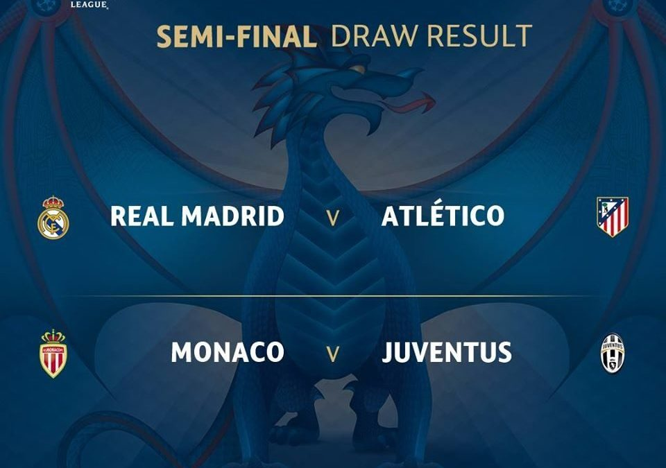 The Official Results of UEFA Champions League Semi-final draw