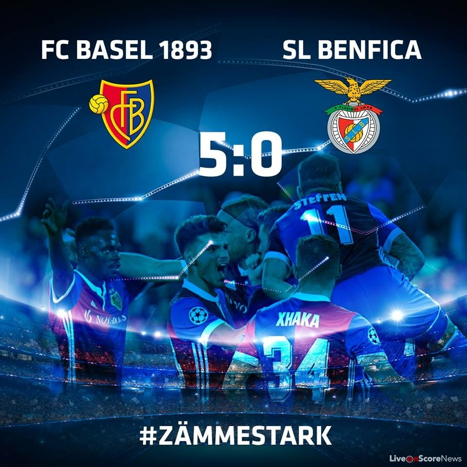 Basel 5-0 Benfica Full Highlights