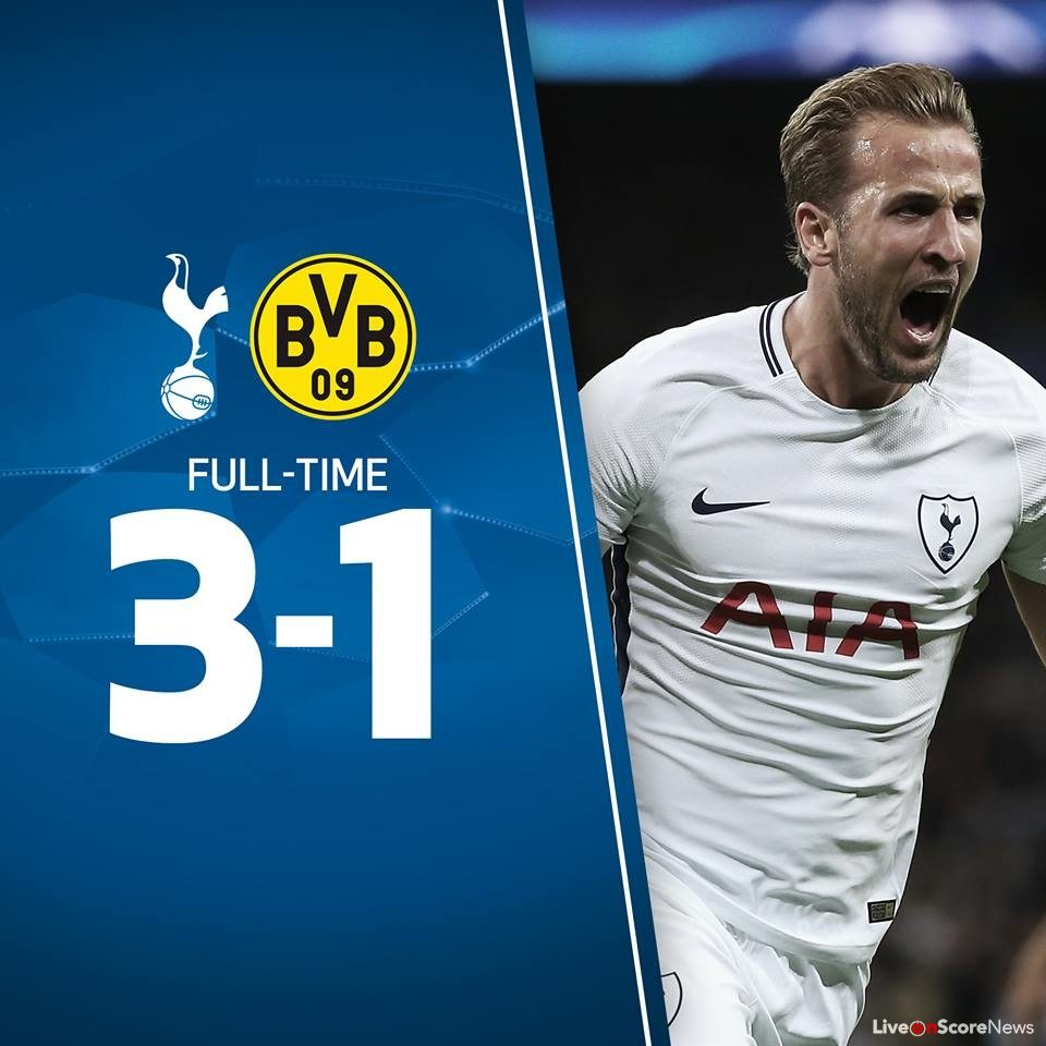 detailing 8d463 27f6f Tottenham Hotspur 3-1 Borussia Dortmund Full Highlights ...