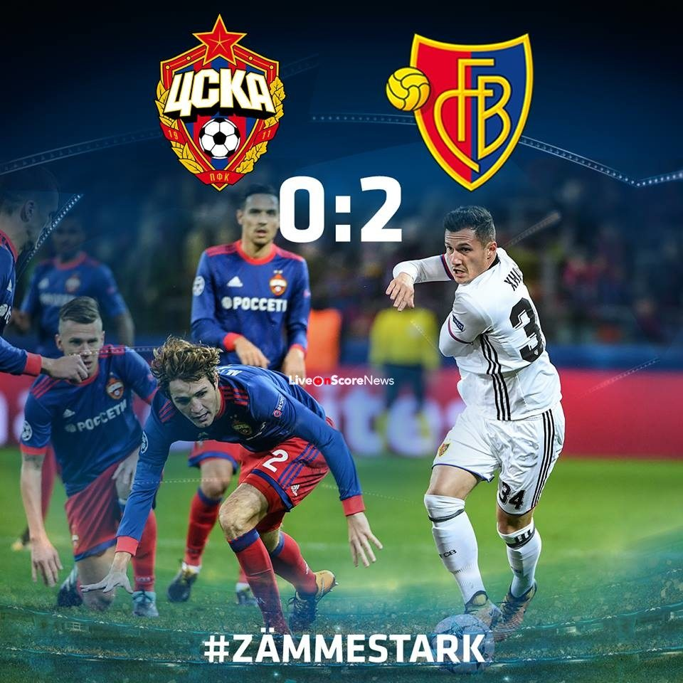 CSKA Moscow 0-2 Basel Full Highlights