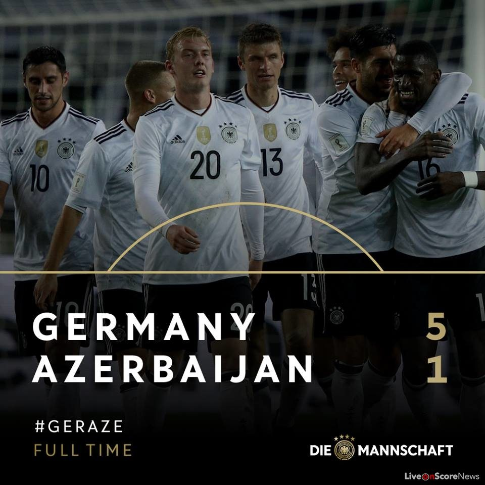 Azerbaijan News And Scores: Germany 5-1 Azerbaijan Full Highlights-FIFA World Cup 2018