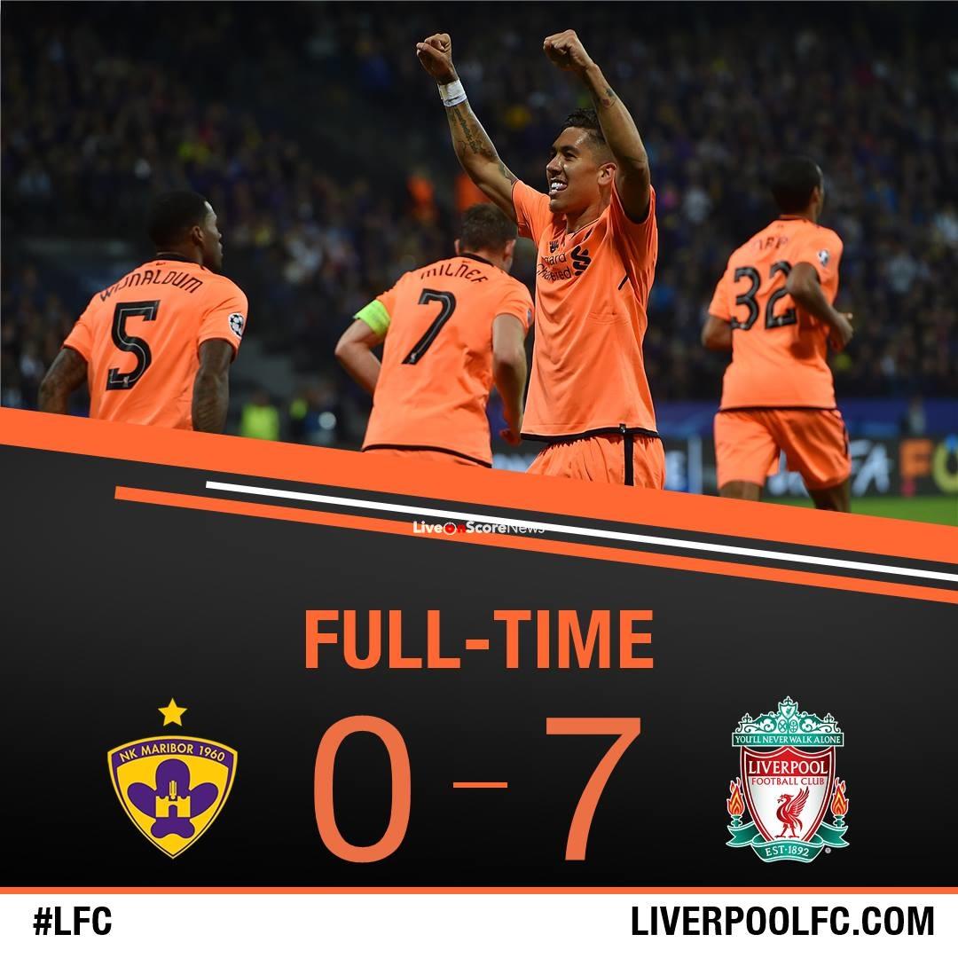 Maribor 0-7 Liverpool Full Highlights