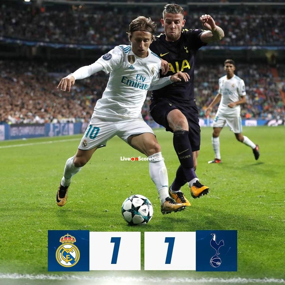 Real Madrid 1-1 Tottenham Hotspur Full Highlights