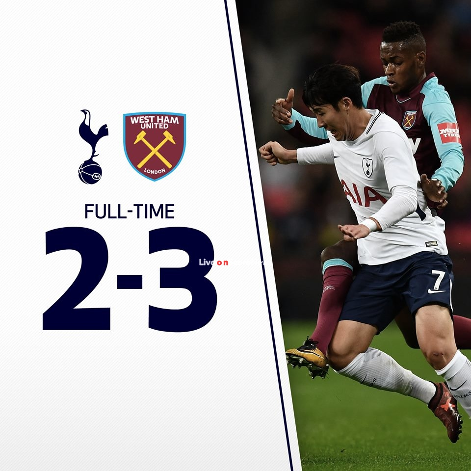 Tottenham Hotspur 2-3 West Ham United Full Highlights
