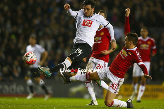Image result for Manchester United vs Derby County fa a cup Live pic logo