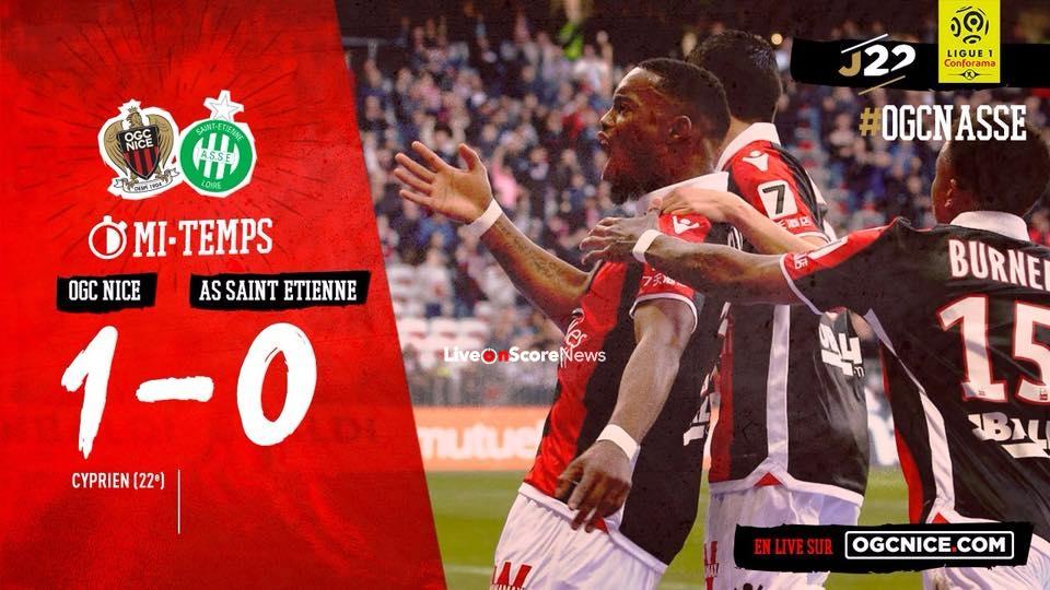 Calendrier Ligue 1 Nice.Nice 1 0 Saint Etienne Full Resume Video Liveonscore Com