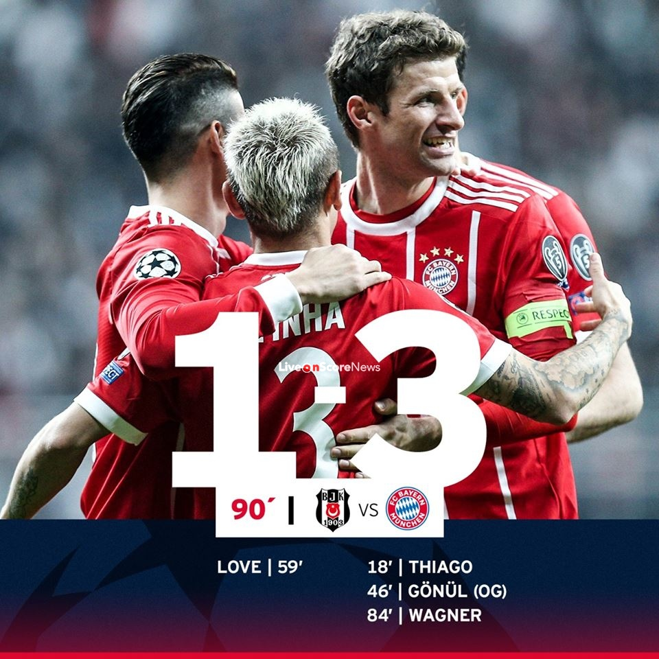 Besiktas 1-3 Bayern Munich Full Highlight Video Uefa