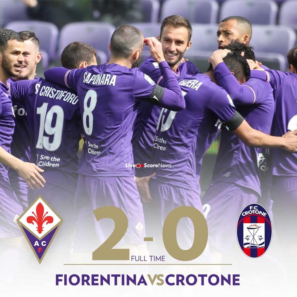 Fiorentina 2-0 Crotone Full Highlight Video