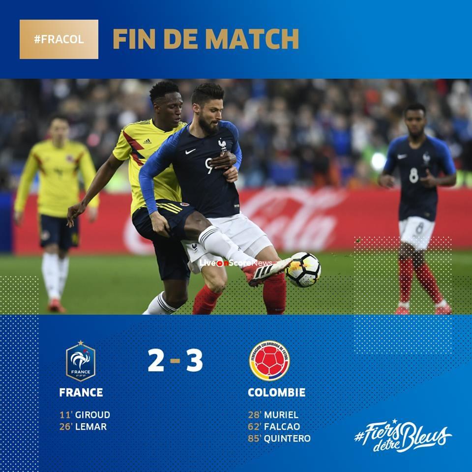 France 2-3 Colombia Full Highlight Video International ...