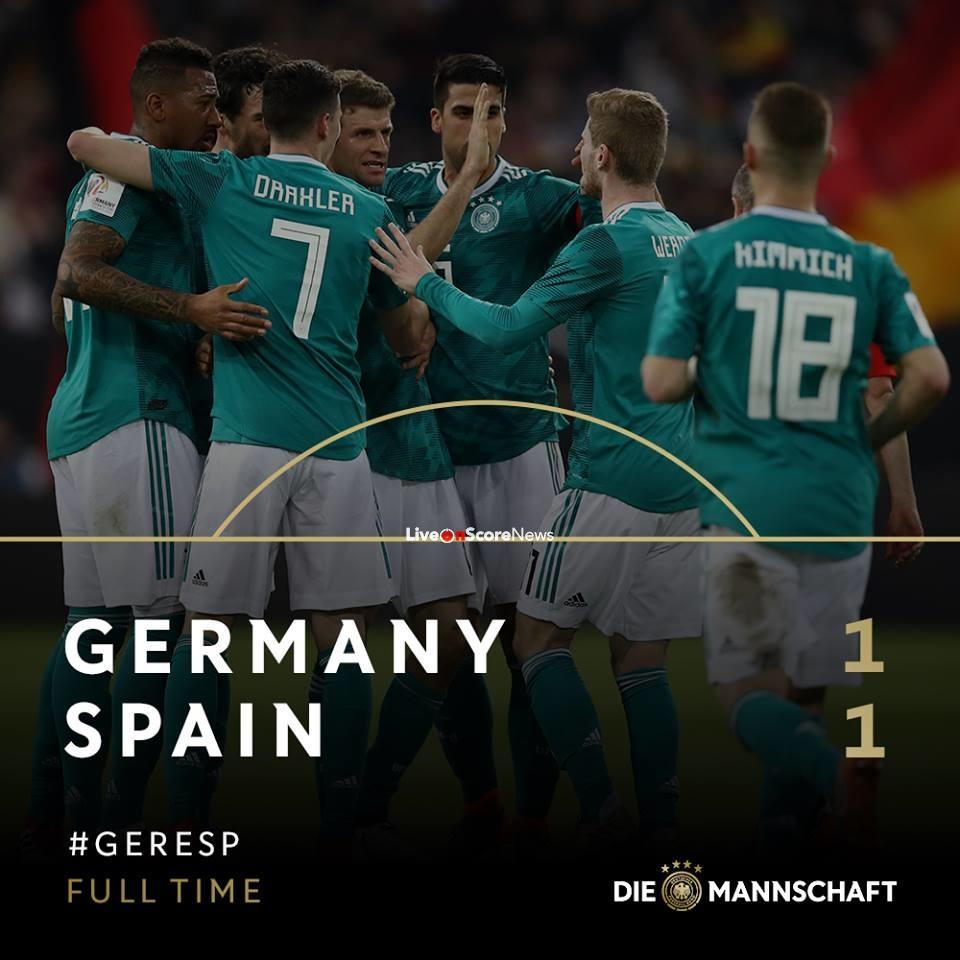 Germany 1-1 Spain Full Highlight Video International ...