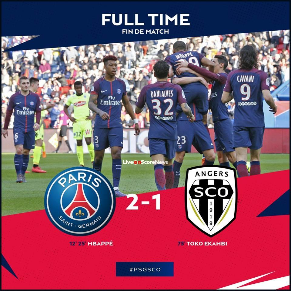 Paris Saint Germain V Angers Sco Ligue 1: Paris Saint Germain 2-1 Angers Full Highlight Video