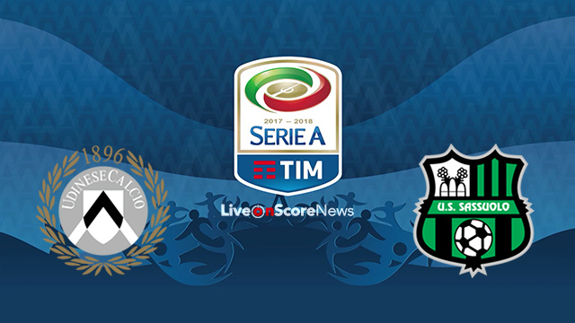 Udinese vs Sassuolo Preview and Prediction Live stream Serie Tim A 2018
