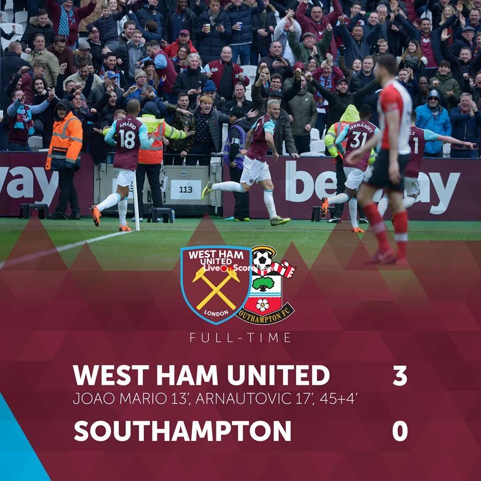 West Ham United 3-0 Southampton Full Highlight Video