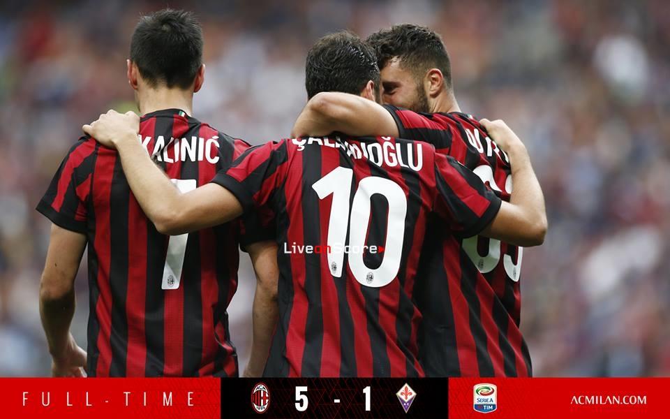AC Milan 5-1 Fiorentina Full Highlight Video