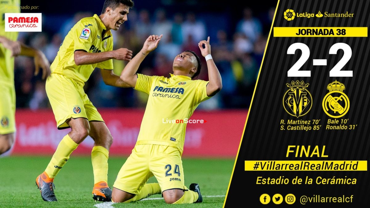 Villarreal 2-2 Real Madrid Full Highlight Video