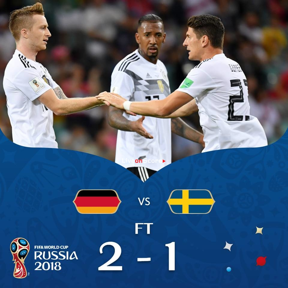 ac3a00c0f85 Germany 2-1 Sweden Full Highlight Video Russia World Cup 2018