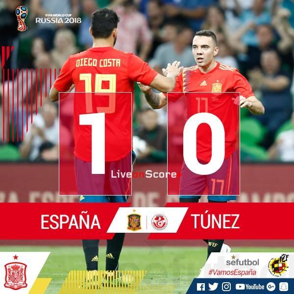 Spain 1-0 Tunisia Full Highlight Video Friendly International 2018