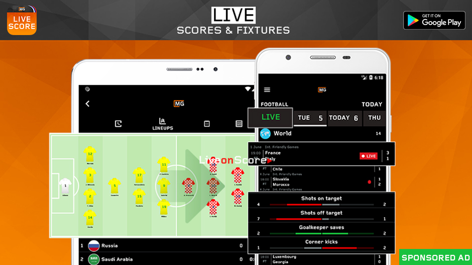 Get Live Score MG Android App – Sport Live scores