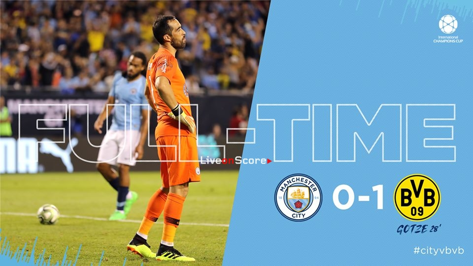 Manchester City 0-1 Borussia Dortmund  Full Highlight Video International Champions Cup 2018