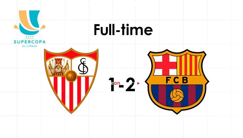 Barcelona 2-1 Sevilla Full Highlight Video SPAIN Super Cup Final 2018