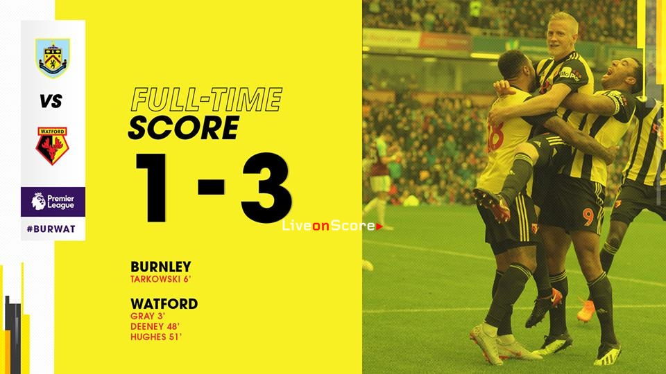 Burnley 1-3 Watford Full Highlight Video Premier League 2018/2019