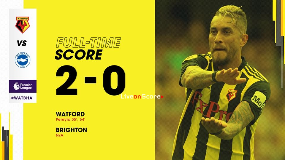 Watford 2-0 Brighton & Hove Albion Full Highlight Video Premier League 2018/2019