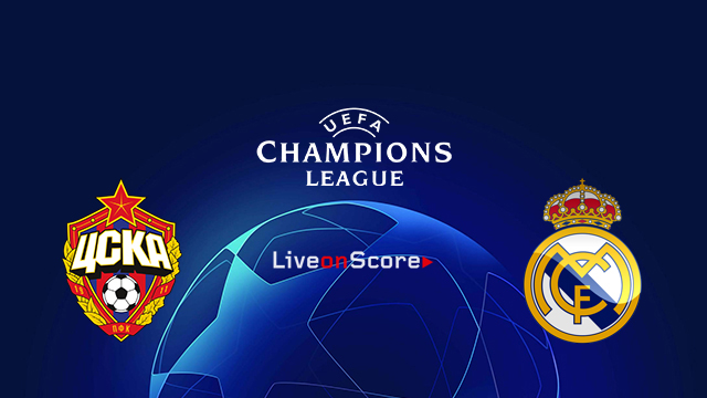Image result for Real Madrid vs CSKA Moscow  UEFA Champions League 2018 Live