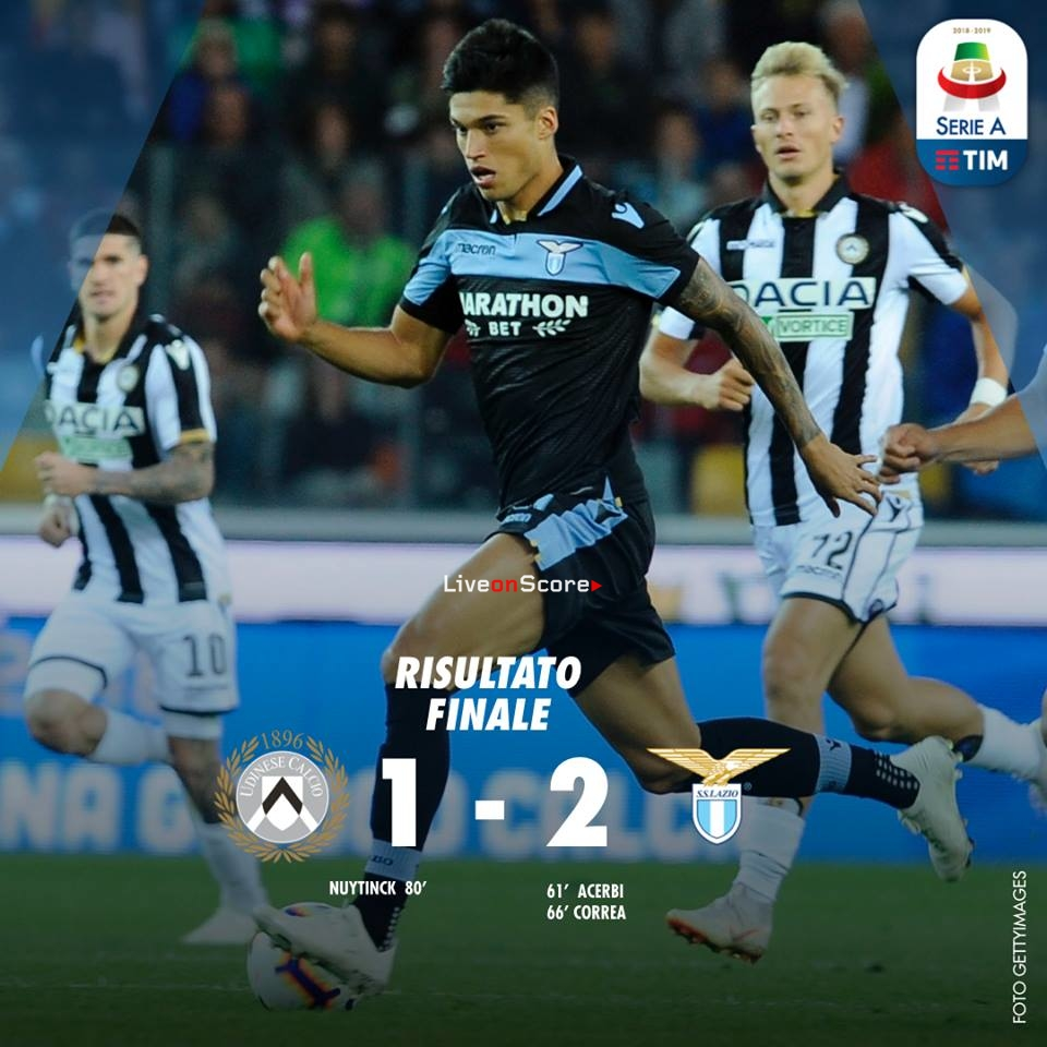 Udinese 1-2 Lazio Full Highlight Video – Serie A 2018/2019