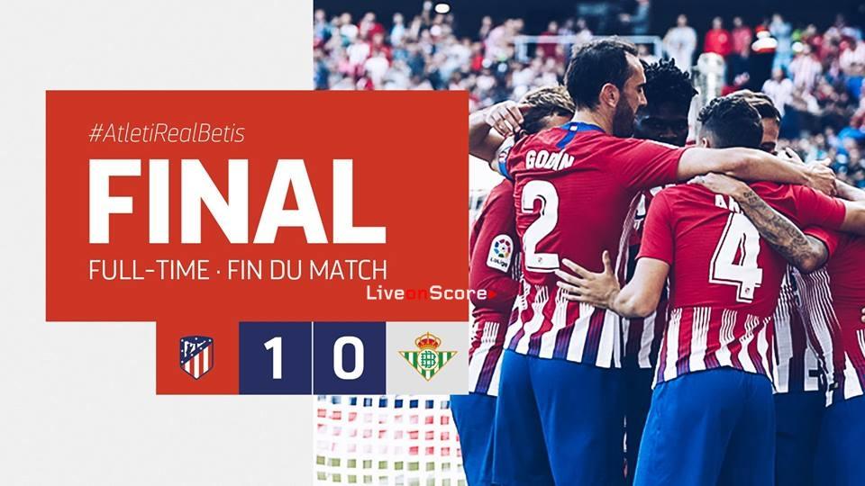 Atletico Madrid 1-0 Real Betis Balompie Full Highlight Video – LaLiga Santander 2018/2019