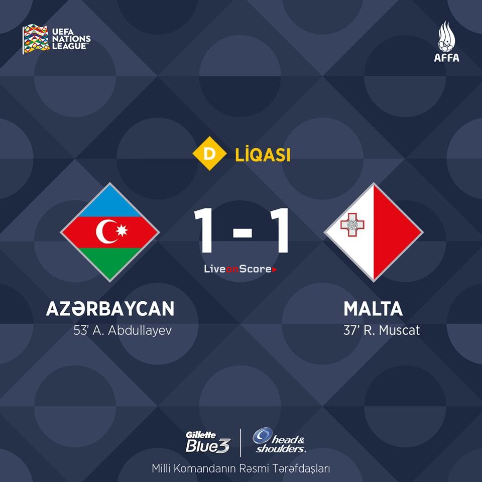 Azerbaijan News And Scores: Azerbaijan 1-1 Malta Full Highlight Video
