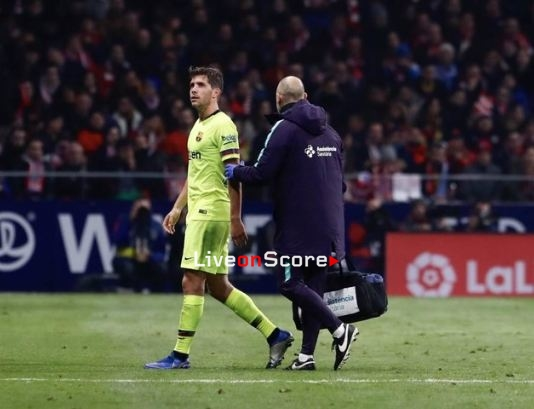 Sergi Roberto hamstring injury: out 3-4 weeks