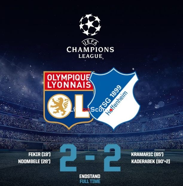 Lyon 2-2 Hoffenheim Full Highlight Video – Uefa Champions League 2018/2019