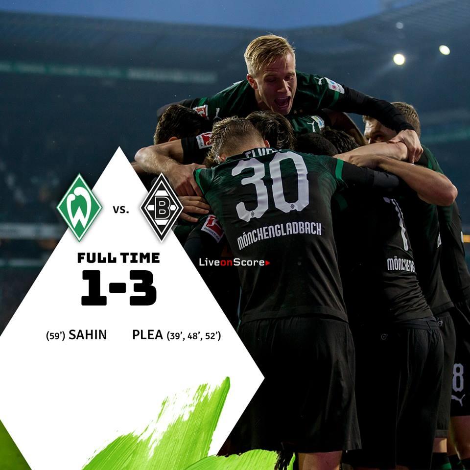 Боруссия вердер 3 2 полный матч