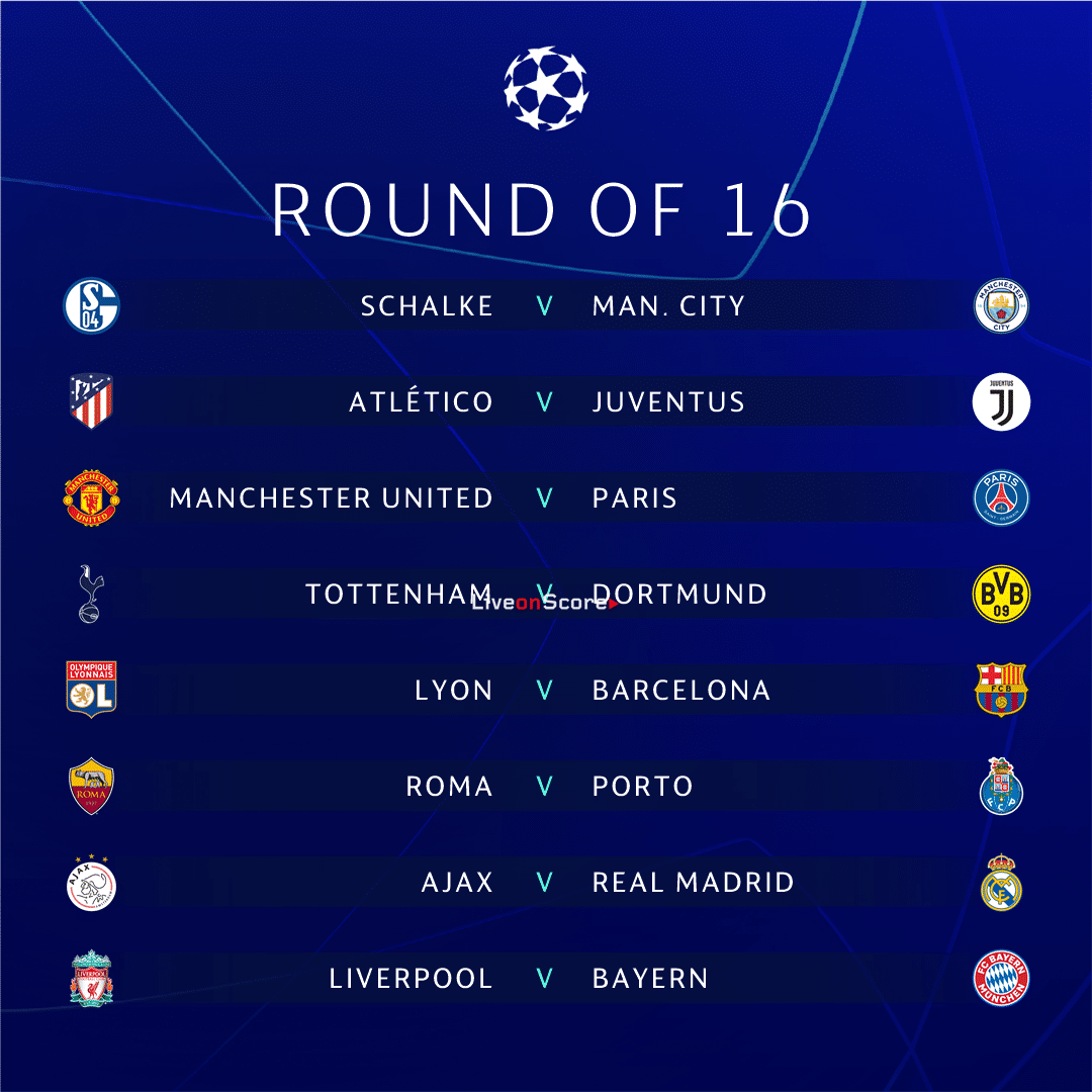 UEFA Champions League Round Of 16 Draw