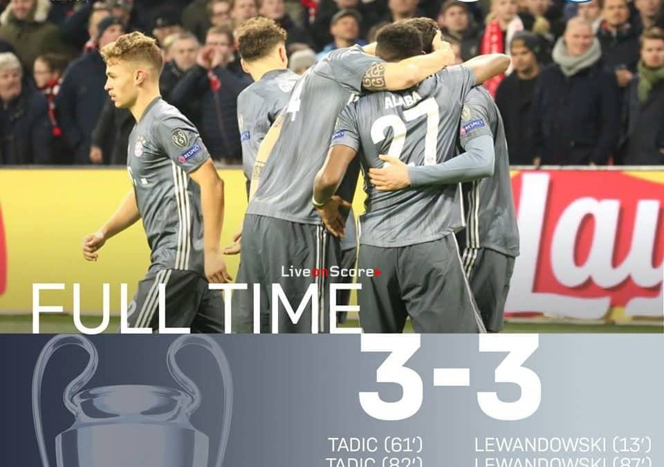 Ajax 3-3 FC Bayern München Full Highlight Video – Uefa Champions League 2018/2019