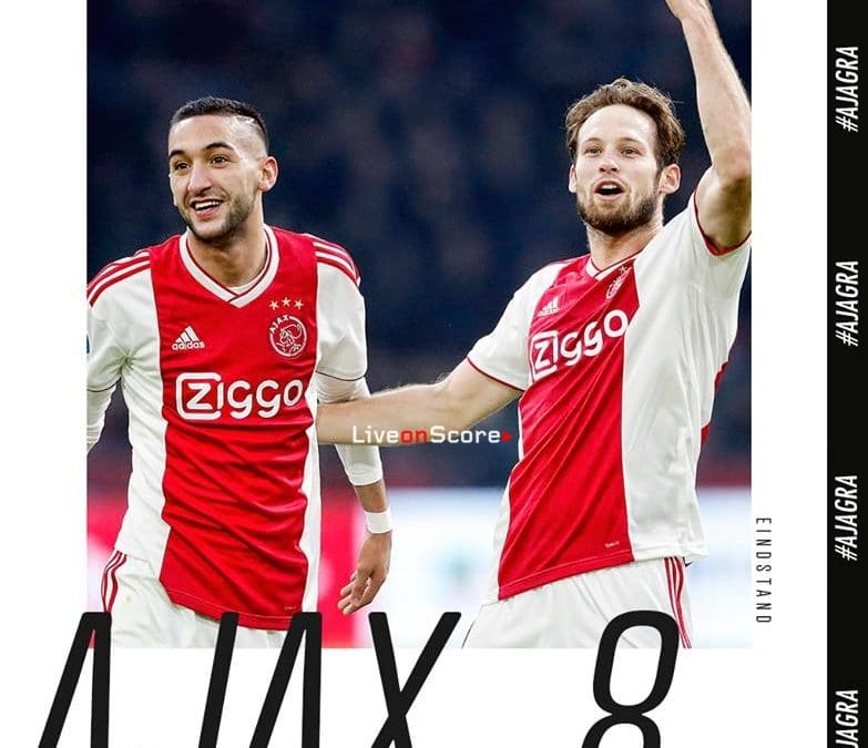 Ajax Amsterdam 8-0 De Graafschap Full Highlight Video – Netherlands – Eredivisie 2018/2019
