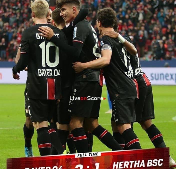 Bayer Leverkusen 3-1 Hertha BSC Full Highlight Video – Bundesliga 2018/2019