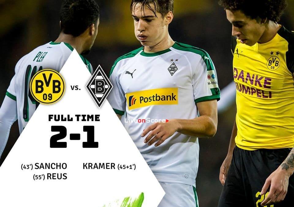 Borussia Dortmund 2-1 Borussia Mönchengladbach Full Highlight Video – Bundesliga 2018/2019