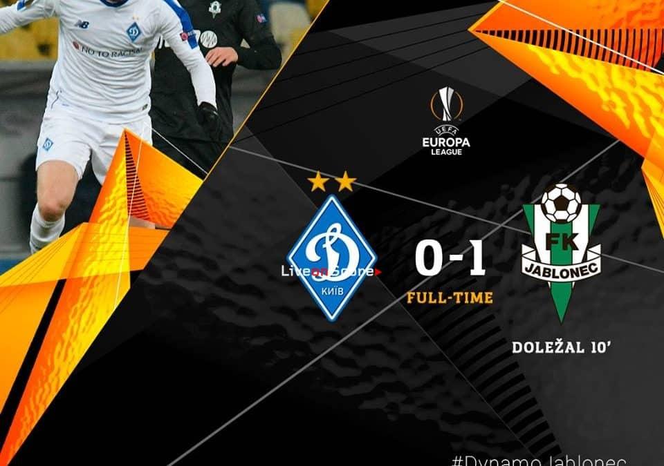 Dynamo Kyiv 0-1 Jablonec Full Highlight Video – Uefa Europa League 2018/2019