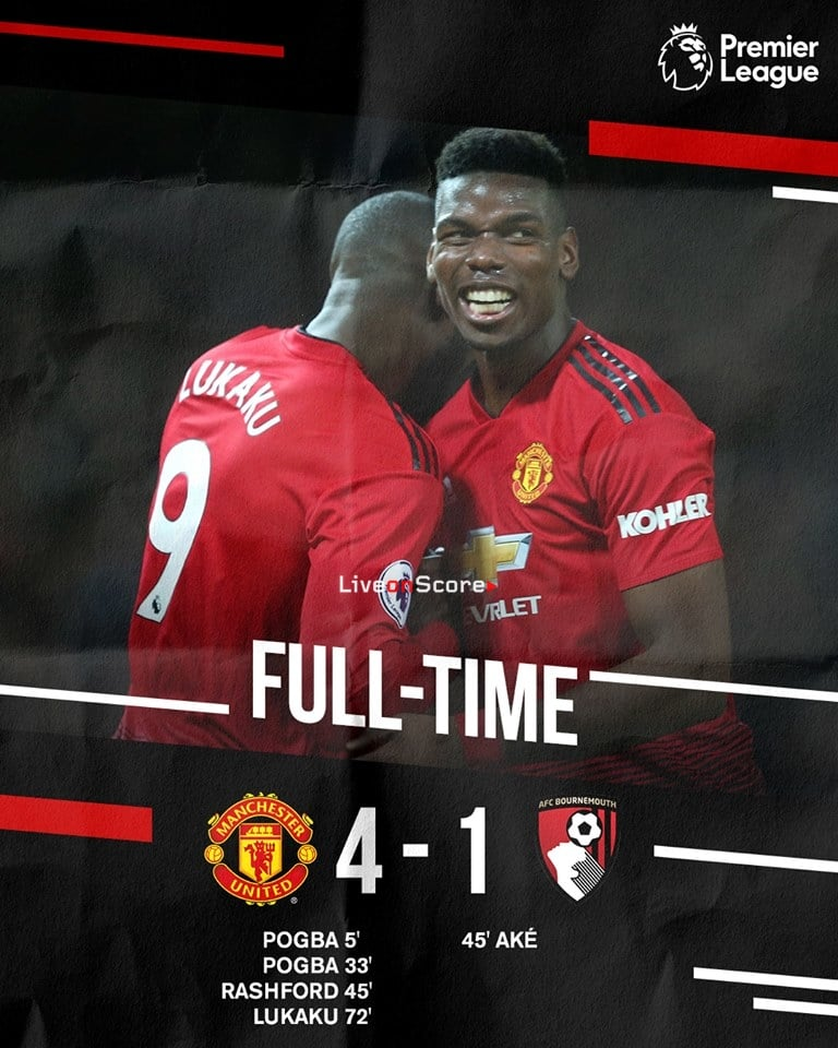 Manchester United 4-1 AFC Bournemouth Full Highlight Video