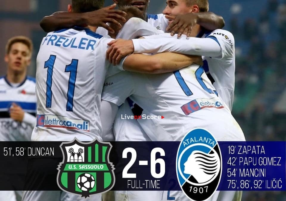 Sassuolo 2-6 Atalanta Full Highlight Video – Serie A 2018/2019